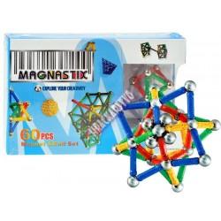 Magnastix - magnetická skladačka, 60 ks