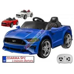 ELCARS elektrické autíčko Mustang GT, multifunkční dálkové ovládání, plynulý start, EVA kola, kožená sedačka
