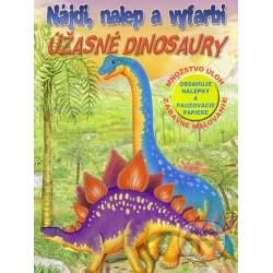 Nájdi, nalep a vyfarbi- Úžasné dinosauři