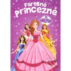Barevné princezny se samolepkami