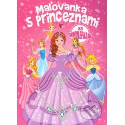 Omalovánky s princeznami se samolepkami