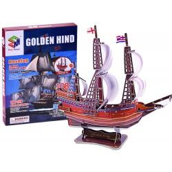 3D Puzzle loď Golden Hind, 108 dílů