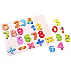 Dřevěná čísla a matematické znaky