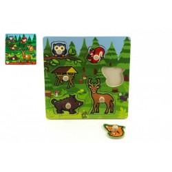 Drevená vkladačka - Moje prvé lesné zvieratká 6 ks