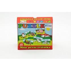 Puzzle - Moje prvé zvieratká drevené