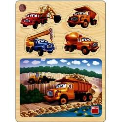 Puzzle drevené +  vkladačka Tatra v lome