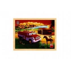Drevené doskové puzzle- Tatra hasiči 20 dielikov