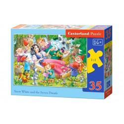 Castorland Puzzle  Snehulienka a sedem trpaslíkov, 35 dielikov