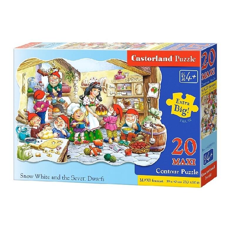 Castorland MAXI 20 Puzzle Snehulienka a sedem trpaslíkov