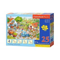 Castorland Edukatívnu Puzzle Počítanie na farme, 25 dielikov