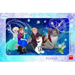 Puzzle Frozen- Snehové vločky 15 dielikov