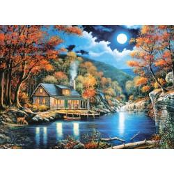 Castorland Puzzle Chata pri jazere, 2000 dielov