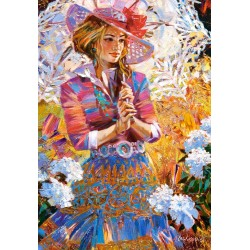 Castorland Puzzle Dievča s dáždnikom, 1500 dielov