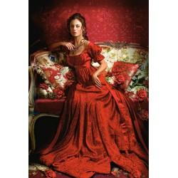 Castorland Puzzle Kráska v červenom, 1500 dielov