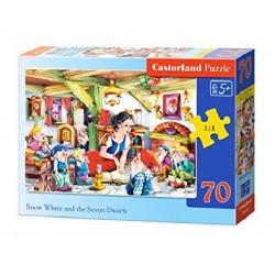 Castorland Puzzle  Snehulienka a sedem trpaslíkov, 70 dielikov