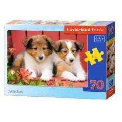 Castorland Puzzle Šteniatka kólie, 70 dielikov