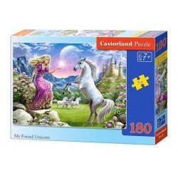 Castorland Puzzle Môj priateľ jednorožec, 180 dielikov