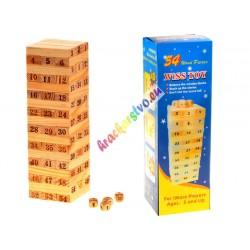 Hra Věž Jenga dřevěná, 23 cm