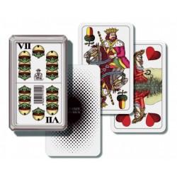 Mariáš - hrací karty v plastové krabičce