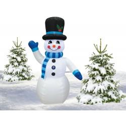 Nafukovací svietiaci snehuliak 180 cm