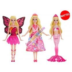 Mattel – Barbie filmové hrdinky – mini, 3 modely
