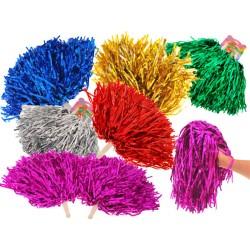 Farebné pompony pre Cheerleaderky – roztlieskavačky, 2ks, 6 farieb