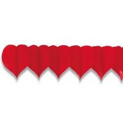 Girlanda papírová, Srdce 4m (19cm)