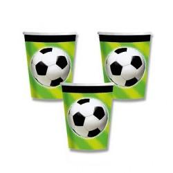 Papírové kelímky Fotbal 0,25l, 8ks