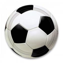 Papírové talířky Fotbal, průměr 23cm, 8ks