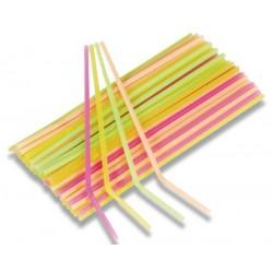 Flexibilní slámky neon, 40ks
