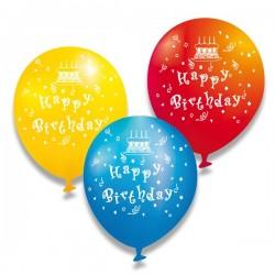Nafukovací balónky Happy Birthday, 6 ks