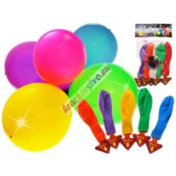 Barevné svítící LED balóny, 5ks, 30cm