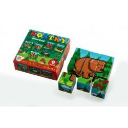 Drevené kocky kubus - Moje prvé lesné zvieratká