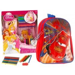 Ruksak Disney - Princess, pastelky, pera, notes ...