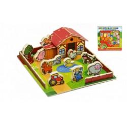 Drevený domček - Farma, moje prvé zvieratká
