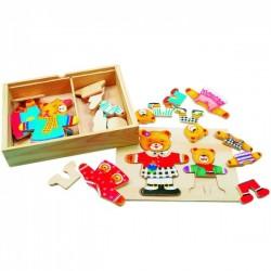 Drevený šatník v krabici- Medveď