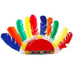 Barevná indiánská čelenka