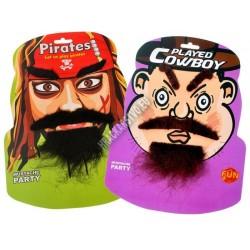 Samolepicí maskovací sada - kovboj nebo pirát