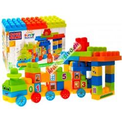 FUNNY BLOCKS - velké barevné skládačky s nálepkami, 50ks
