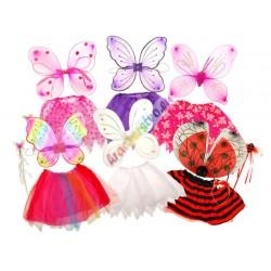 Křídla + sukně na karneval, 4 barvy