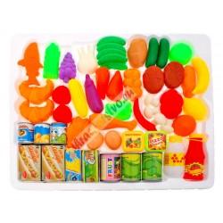 Zboží do obchodu + ovoce a zelenina, 52 ks