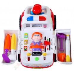Huile Toys: Sanitka s pacientem a vybavením