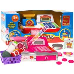 Dětská pokladna s váhou, kalkulačkou a bohatým příslušenstvím