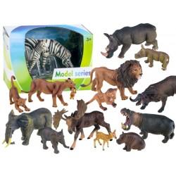 Figúrky afrických zvierat s mláďaťom
