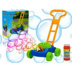Kosačka vypúšťajúca mydlové bubliny