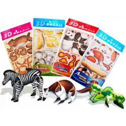 3D puzzle zvieratká