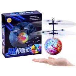 Lietajúca svetelná disko guľa, ovládaná rukou