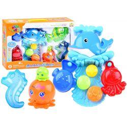 Veľryba s formičkami, hračka do kúpeľanew