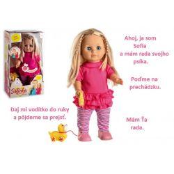 Hovoriaca bábika Sofia so psíkom