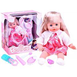 BONNIE Rozkošná hovoriaca bábika s dlhými blond vlasmi